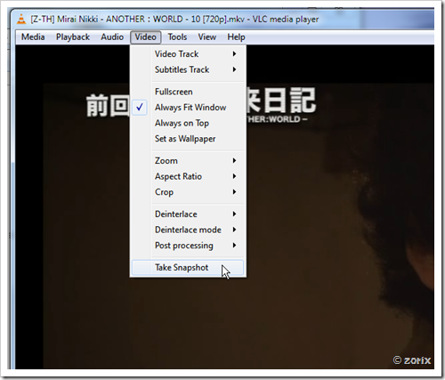 vlc [Z-TH] Mirai Nikki - ANOTHER:WORLD - 10 [720p]